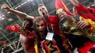 Belgische Fans machen bei der WM in Russland Stimmung.
