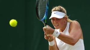 Auch für Carina Witthöft ist Wimbledon vorbei
