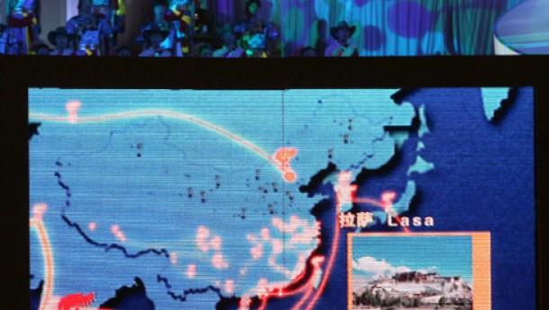 Über den Mount Everest, aber nicht durch Taiwan