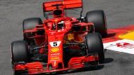 Sebastian Vettel startet von Platz zwei in Monaco am Sonntag.