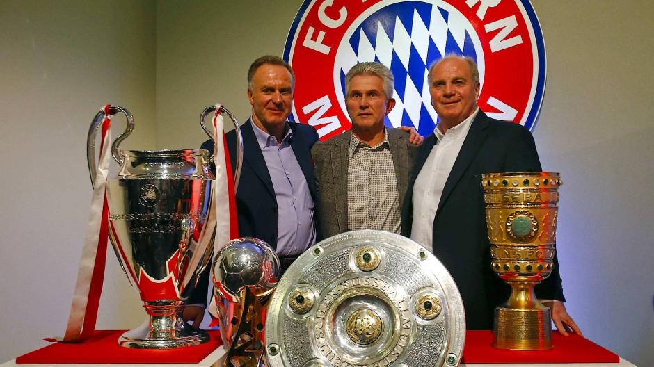 Mit Jupp Heynckes als Trainer gewannen die Münchner 2013 das Triple.