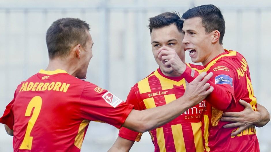 Der SC Paderborn hatte beim Spiel in Darmstadt viel Spaß.