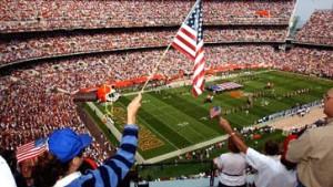 "NFL: Patriot Games"" in Nationalfarben"