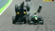 In Valencia hob Mark Webber unfreiwillig ab, inzwischen sind die Wagen mehr Flugzeug denn Auto