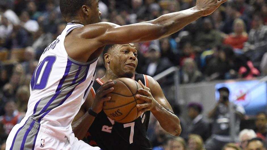 80 Prozent der NBA-Profis sind schwarz – wie Kyle Lowry (am Ball).