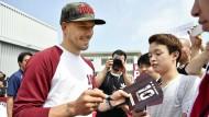 Wie Podolski die Japaner beeindruckt