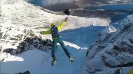 Base-Jump aus atemberaubender Höhe