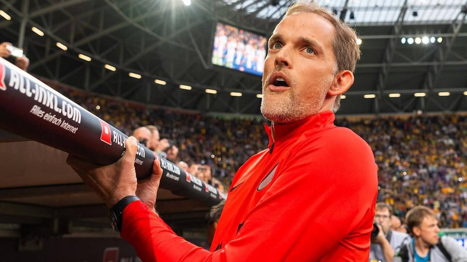 """Völlig entspannt"": Thomas Tuchel im Rudolf-Harbig-Stadion"