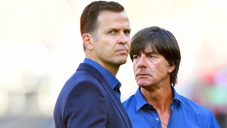 Nicht ohne jede Schuld: Nationalmannschaftsmanager Oliver Bierhoff (links) und Bundestrainer Joachim Löw.