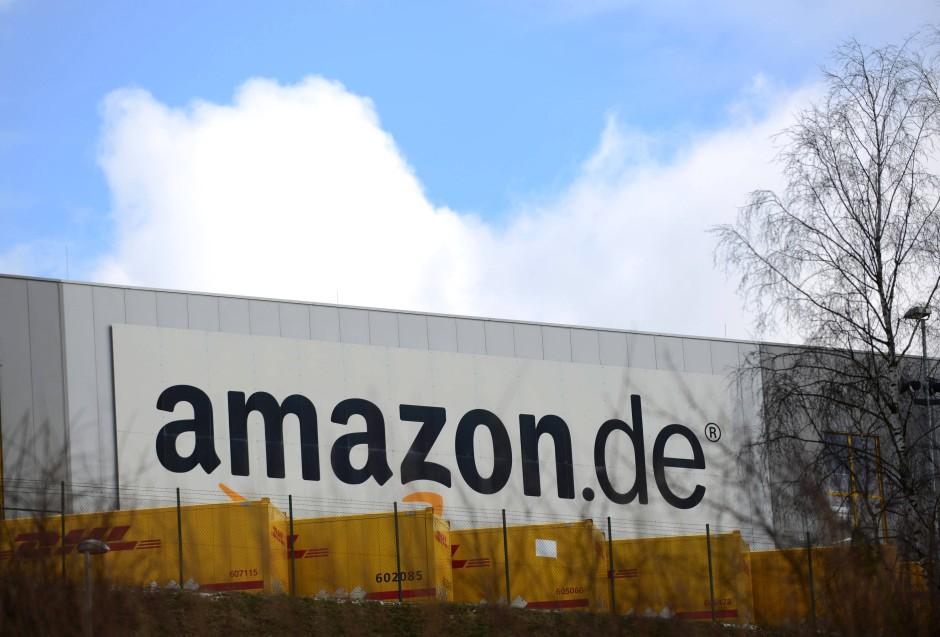Das Logistikcenter des Internet-Versandhändlers Amazon im hessischen Bad Hersfeld