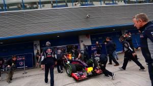 Vettels Testfahrten lösen sich in Rauch auf