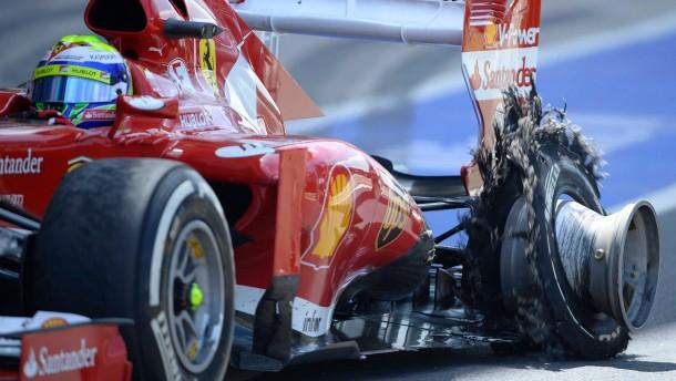 Felipe Massa - Reifendefekt