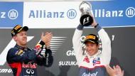 Applaus vom Weltmeister: Der Japaner Kobayashi wird in seiner Heimat Dritter