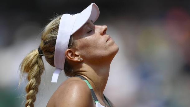 Aus für Angelique Kerber in 1. French-Open-Runde 2017