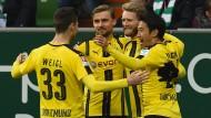 Dortmunds Schürrle hat gut Lachen: Der Nationalspieler erzielte sein erstes Bundesligator für den BVB.