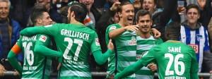 Pünktlich zum Saisonende in absoluter Form: Die Bremer freuen sich über eine unglaubliche Serie.