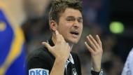 Trotz spätem Ausgleich glücklich: Christian Prokop bei seinem Debüt als Nationaltrainer