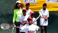 Engagierte Tennis-Ladies