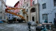 Sotschi am 1. Februar: Selbst wenige Tage vor Beginn der Winterspiele waren viele Hotels nicht fertiggestellt.