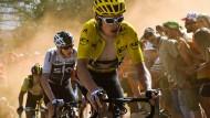 Dem eigentlichen Chef voraus: Geraint Thomas, in gelb, fährt vor Christopher Froome, dem dreimaligen Tour-de-France-Gewinner.