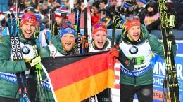 Deutsche Männer-Staffel krönt sich mit Silber