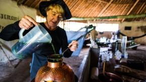Expedition in Sachen Geschmack: Im venezolanischen Dschungel destilliert Lesley Gracie ihre unbekannten Pflanzen für eine Gin-Sonderedition.