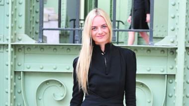 Sie ist ihrer Sache sicher: Virginie Courtin-Clarins, hier im Grand Palais, führt die Geschäfte der Marke Mugler