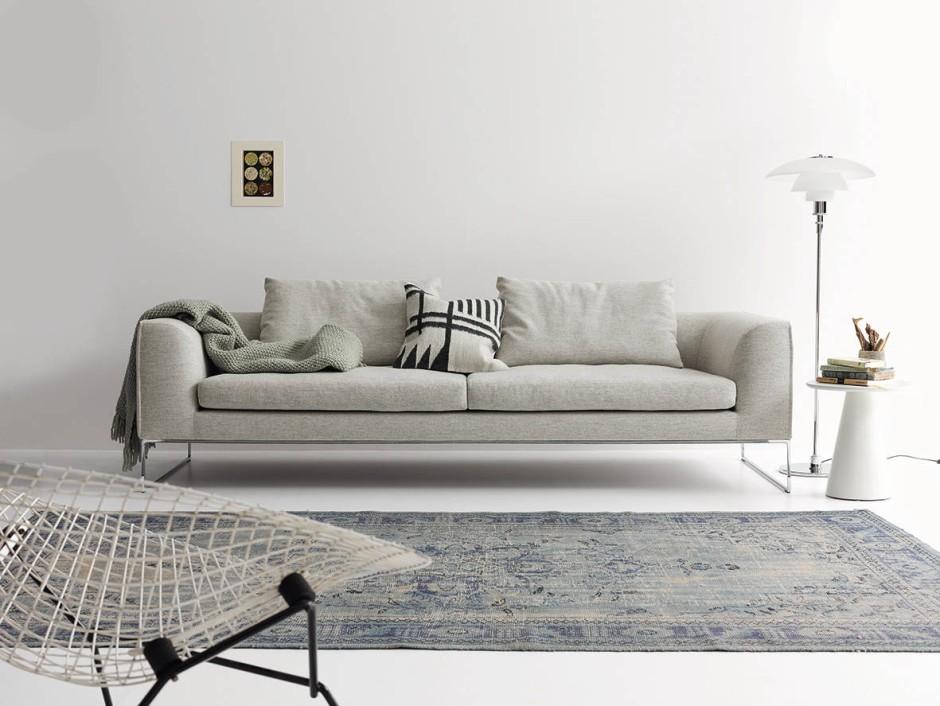 sofa auf stahlkufen. Black Bedroom Furniture Sets. Home Design Ideas