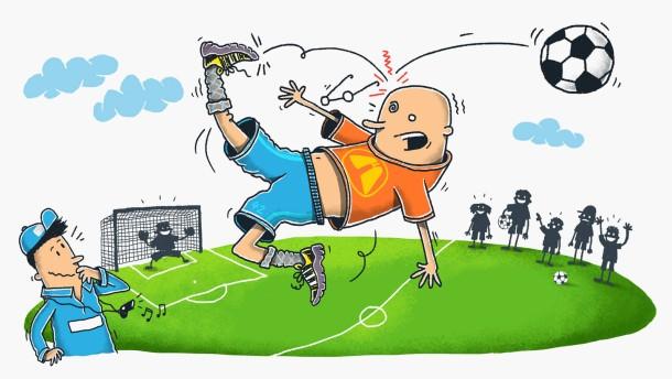 Illustration / Als ich einmal Arjen Robben war / 1