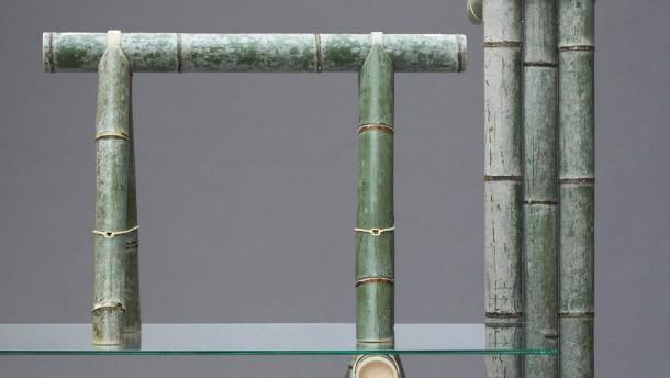bambus im wohnzimmer schlicht und ergreifend drinnen drau en faz. Black Bedroom Furniture Sets. Home Design Ideas