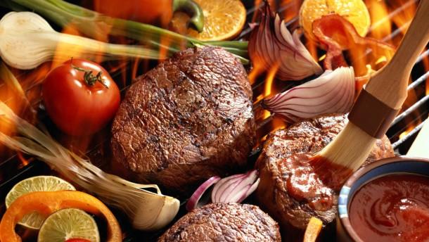 Gut ding will weile haben wenn die steaks knusprig sind wird auf