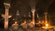 Der Hospitalbau im Kloster Eberbach, der als Weinkeller dient, gehört zu den hessischen Staatsweingütern.