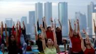 Yoga kann ein Schweinebaumel sein