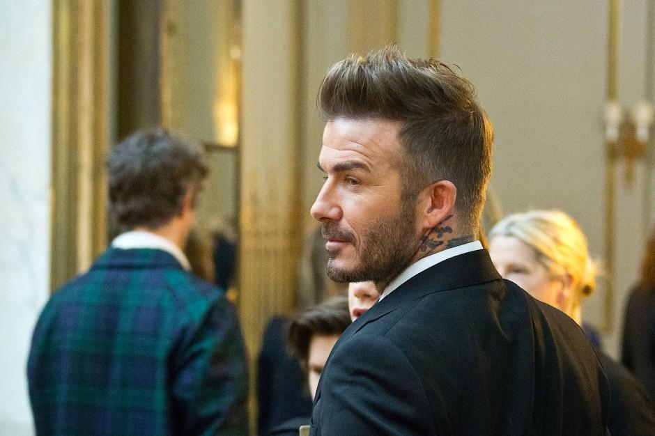 Top gestylt auf der Fashionweek: David Beckham bei der Präsentation der Modekollektion seiner Ehe Frau Victoria Beckham.