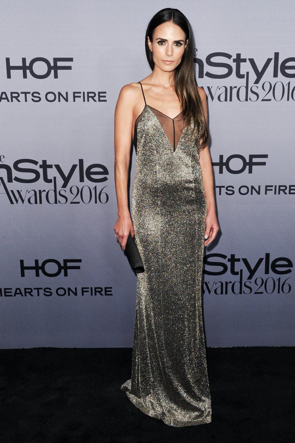 "2016: Jordana Brewster trägt Galvan bei den ""Instyle Awards"" in L.A."
