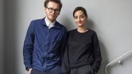 Nie ohne Hund: Ana Relvão und Gerhardt Kellermann mit Ada, einem Whippet.