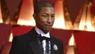 Zeigte sich auch bei der Oscar-Verleihung stilbewusst: Popstar Pharrell Williams.