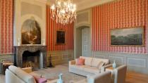 Für die Gäste nur das Beste: Kaminzimmer im Schloss Meseberg