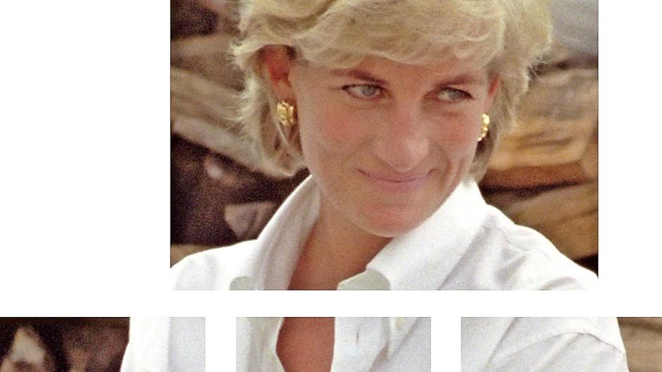 Geistesgegenwart und Eleganz: Prinzessin  Diana im weißen Hemd, 1997,  in ihrem letzten Sommer