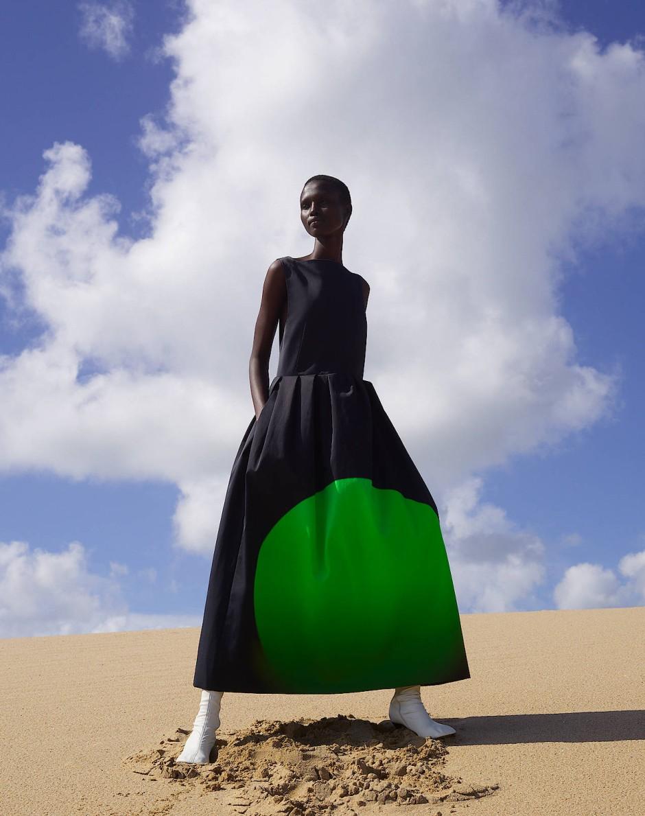 Psychedelisch-optimistisch: Ein Kleid von Dries Van Noten