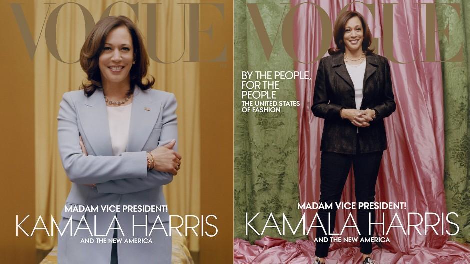 """Offiziell oder inoffiziell: zwei """"Vogue""""-Cover, zwei Looks."""