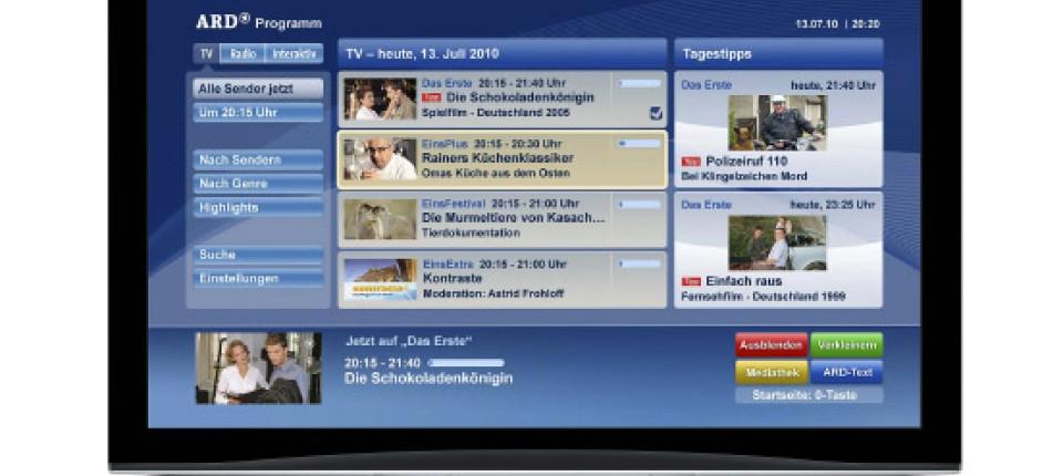 Hbbtv Ein Industrie Standard Fürs Web Tv Ifa 2010 Faz