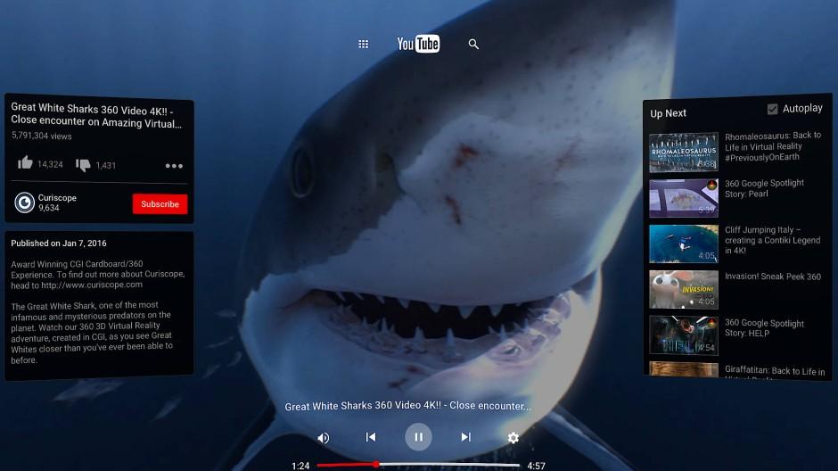 Aus sicherer Entfernung einen Hai in den Nähe erleben: Eine Variante der neuen VR-Brille von Google