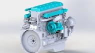 Nur die eingefärbten Teile werden für den Betrieb mit Wasserstoff verändert.
