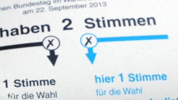 Wahlunterlagen für Bundestagswahl 2013