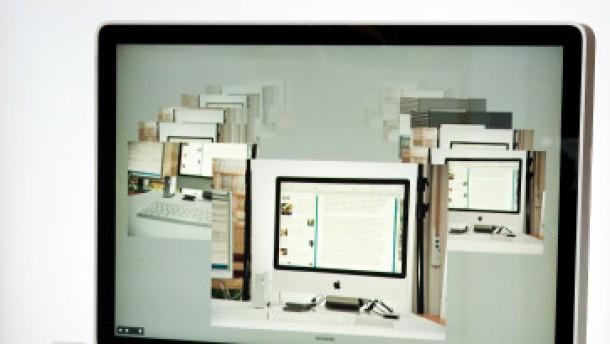 Der iMac spiegelt sich in seinem Glanz