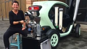 Die fahrende Espresso-Maschine