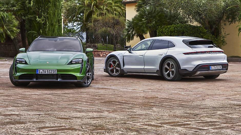 Porsche macht den elektrischen Taycan zum Sportkombi.