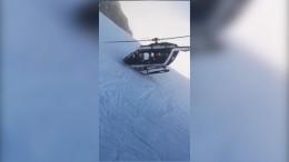Spektakuläre Hubschrauber-Rettung