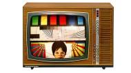 So war es 1967: Das Fernsehgerät von Graetz mit 13 Röhren und 44 Transistoren zeigt hier ein Testbild.